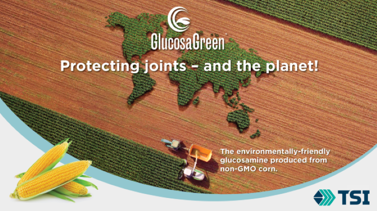 GlucosaGreen from corn symbolizing concern for the planet